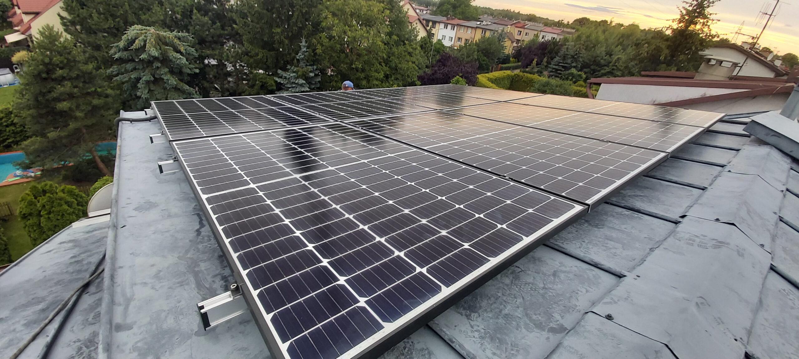 Instalacja fotowoltaiczna o mocy: 6,035 kWp – Łódż