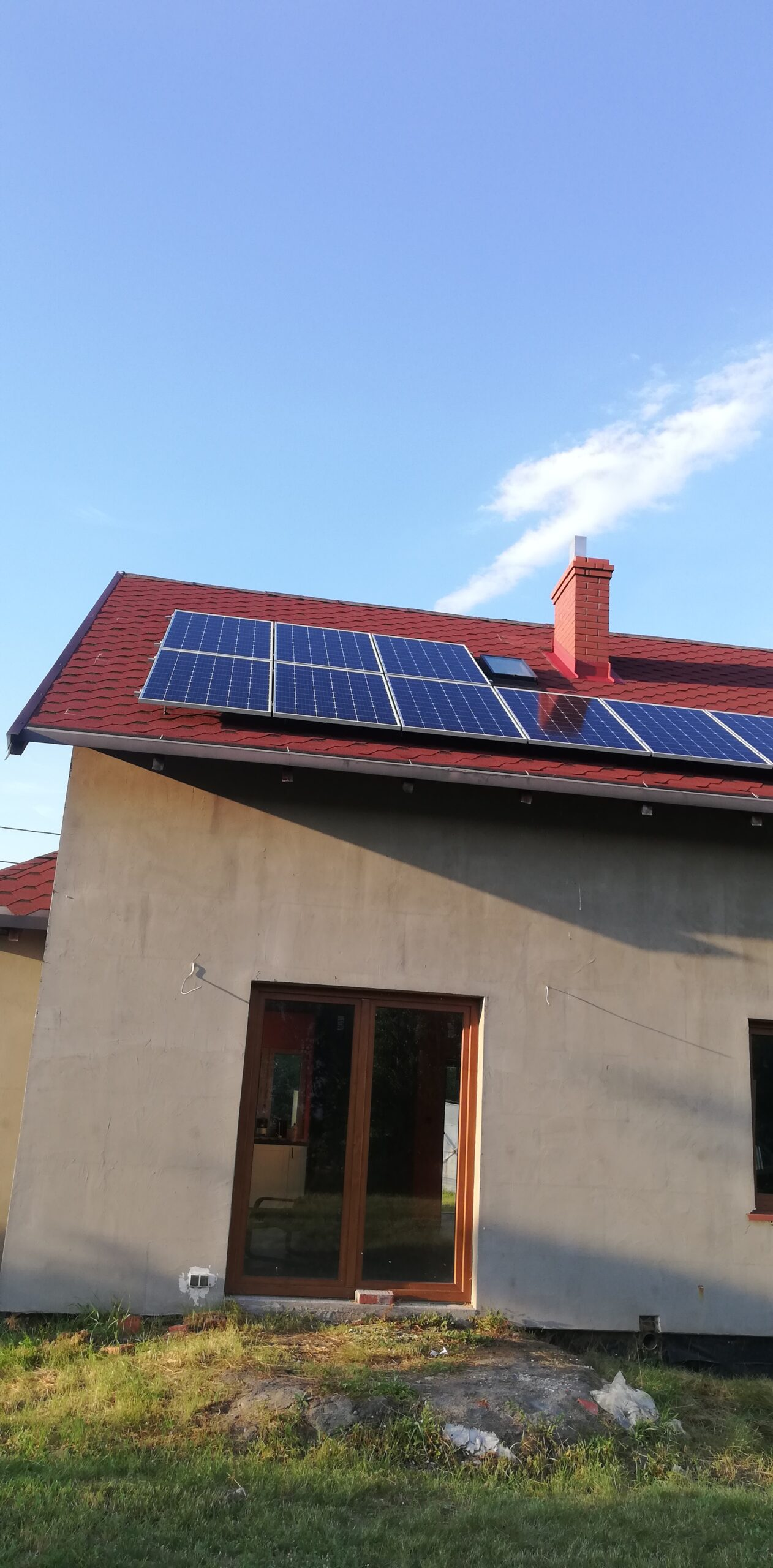 Instalacja fotowoltaiczna o Mocy : 4,96 kWp Rozgarty