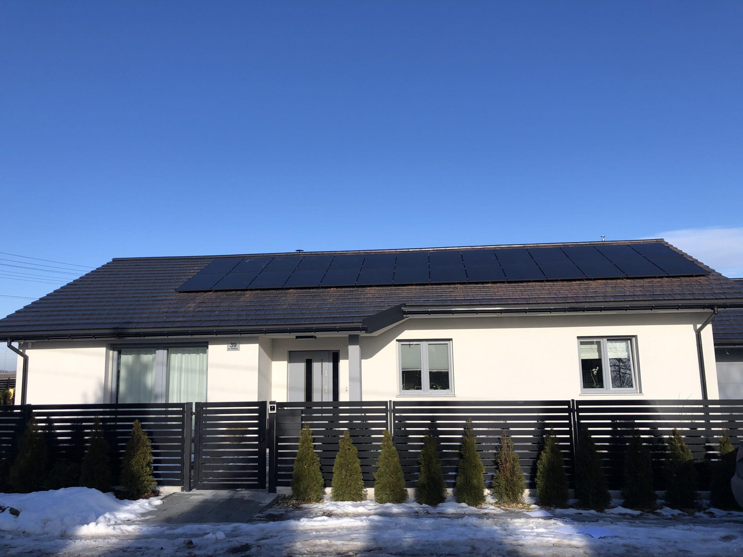 Instalacja fotowoltaiczna o Mocy : 9,520 kWp Ksawerów